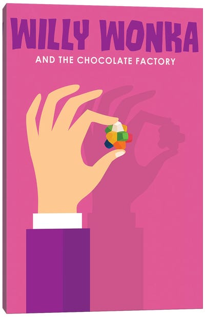 Willy Wonka and The Chocolate Factory Minimalist Poster  Canvas Art Print