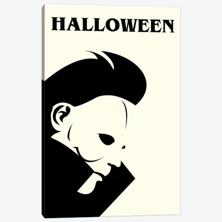 Halloween Minimalist Poster Canvas Print #PTE232} by Popate Canvas Print