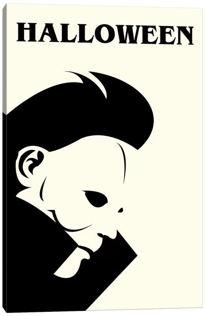 Halloween Minimalist Poster Canvas Art Print