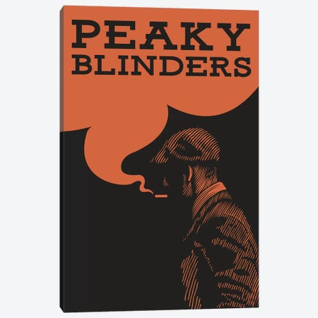 Peaky Blinders Vintage Poster Canvas Print #PTE233} by Popate Canvas Art Print