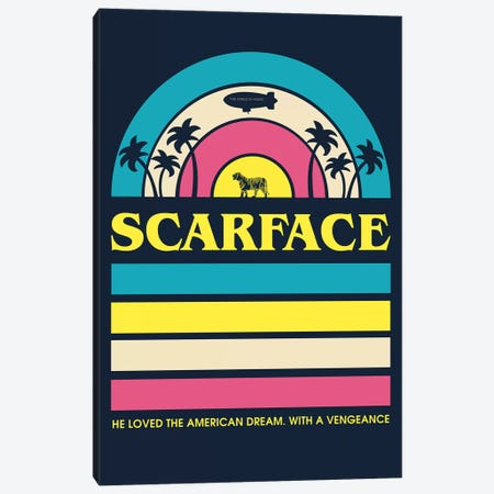 Scarface Vintage Poster Canvas Print #PTE234} by Popate Canvas Art