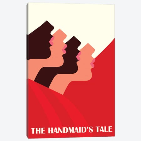 The Handmaid's Tale Minimalist Poster Canvas Print #PTE235} by Popate Canvas Art