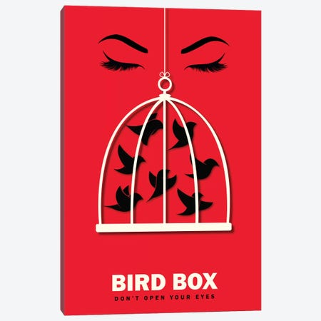 Birdbox Minimalist Poster  Canvas Print #PTE236} by Popate Canvas Wall Art
