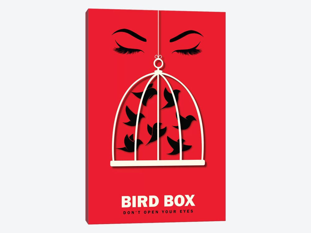 Birdbox Minimalist Poster  by Popate 1-piece Canvas Art