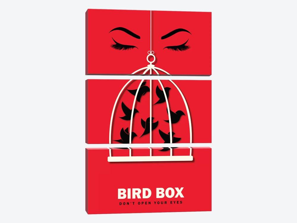 Birdbox Minimalist Poster  by Popate 3-piece Canvas Art