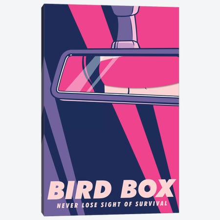 Birdbox Pop Art Poster  Canvas Print #PTE237} by Popate Canvas Wall Art