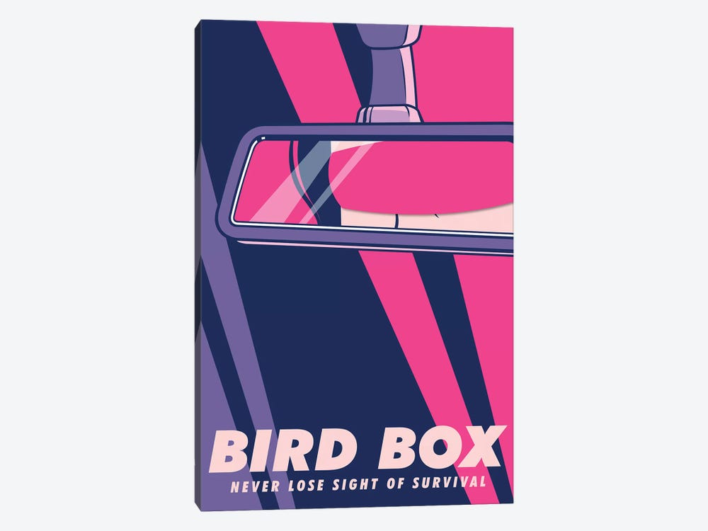 Birdbox Pop Art Poster  by Popate 1-piece Art Print