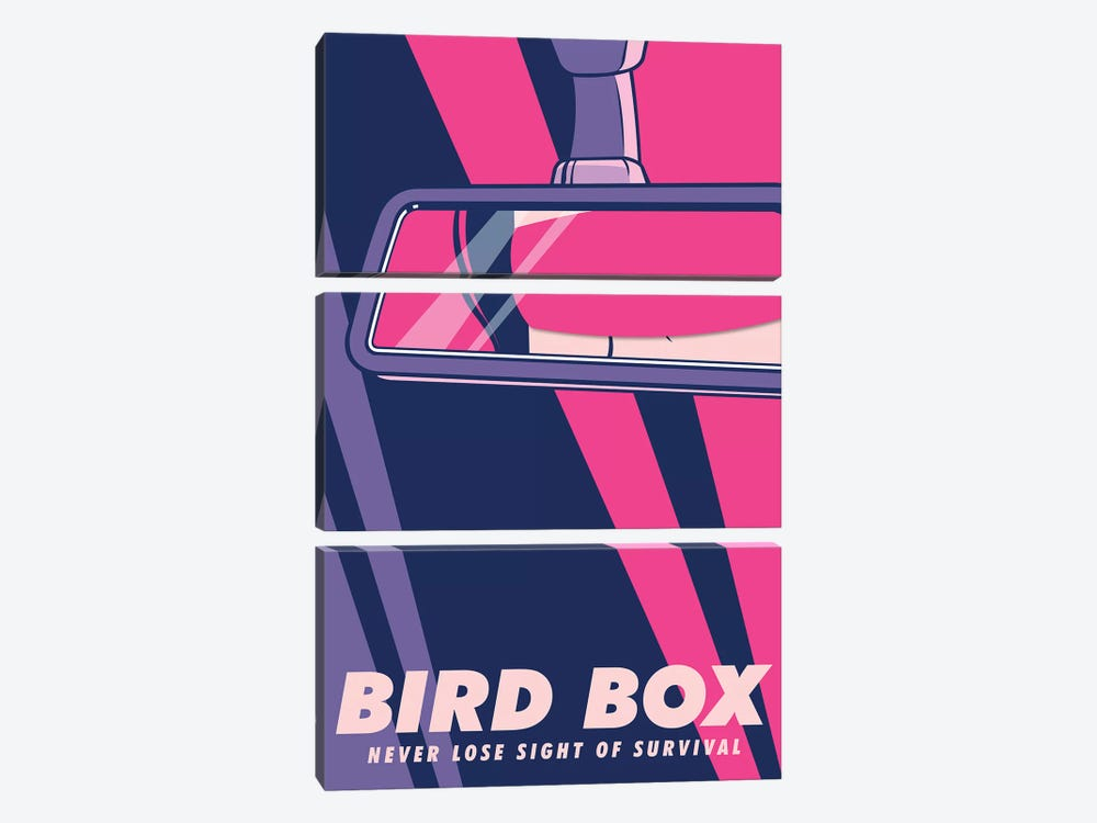 Birdbox Pop Art Poster  by Popate 3-piece Canvas Print