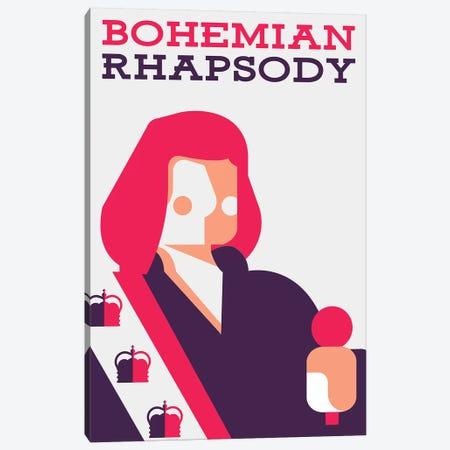 Bohemian Rhapsody Minimalist Poster  - Farrokh Bulsara Canvas Print #PTE238} by Popate Canvas Print