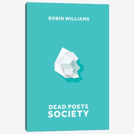Dead Poets Society Minimalist Poster Canvas Print #PTE23} by Popate Canvas Art