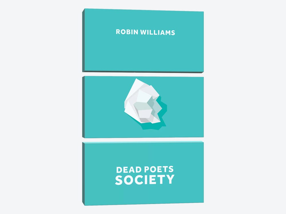 Dead Poets Society Minimalist Poster by Popate 3-piece Canvas Art Print