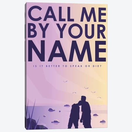 Call Me By Your Name Alternative Poster  Canvas Print #PTE240} by Popate Canvas Wall Art