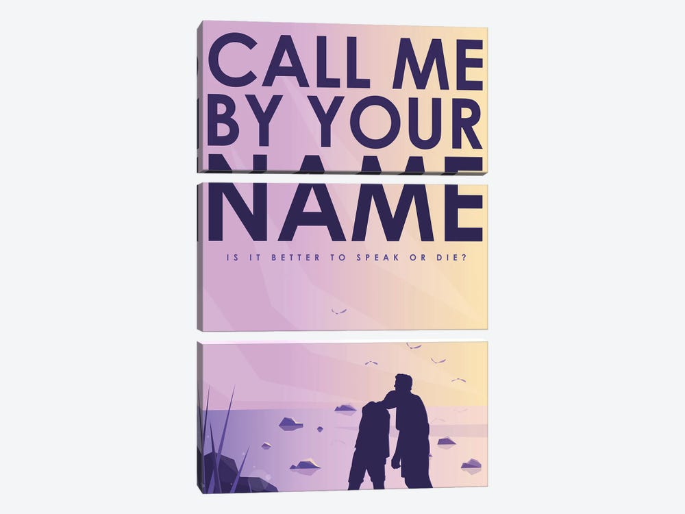 Call Me By Your Name Alternative Poster  by Popate 3-piece Canvas Print