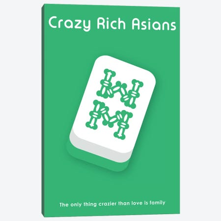 Crazy Rich Asians Minimalist Poster  Canvas Print #PTE241} by Popate Canvas Wall Art