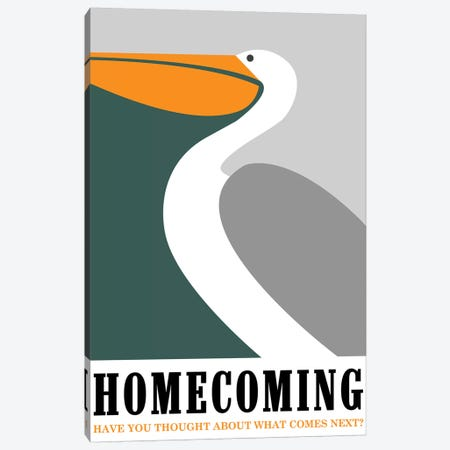 Homecoming Minimalist Poster  Canvas Print #PTE242} by Popate Canvas Art