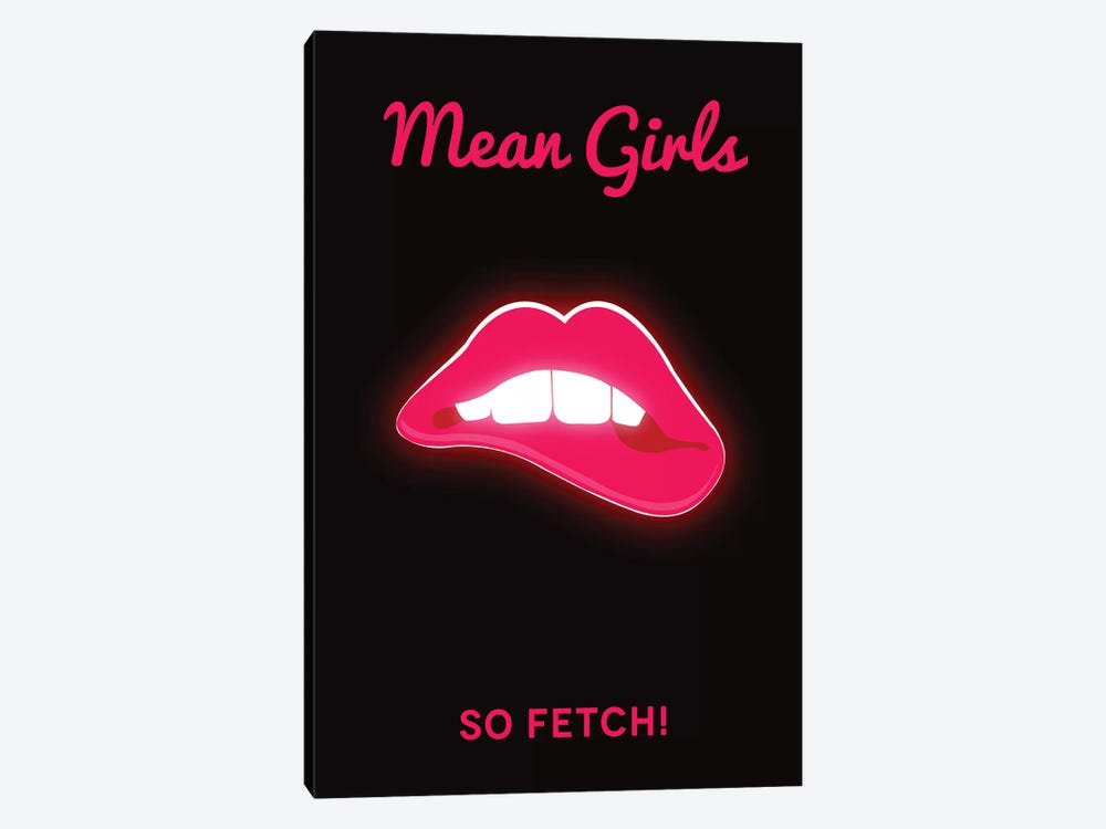 Mean Girls Minimalist Poster  - Lips by Popate 1-piece Canvas Artwork