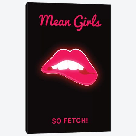 Mean Girls Minimalist Poster  - Lips Canvas Print #PTE243} by Popate Canvas Wall Art