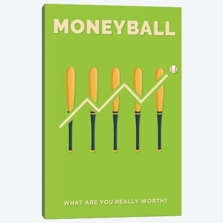 Moneyball Minimalist Poster  Canvas Print #PTE244} by Popate Canvas Art Print