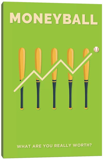 Moneyball Minimalist Poster  Canvas Art Print