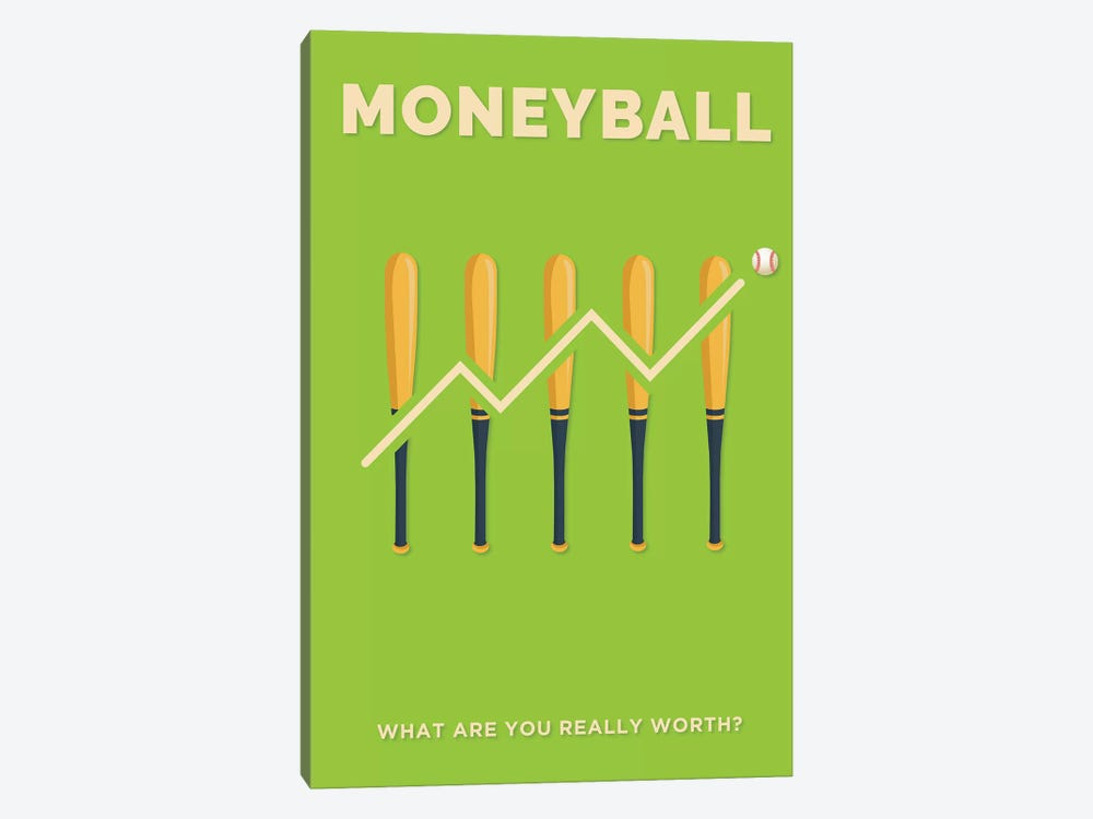 Moneyball Minimalist Poster  by Popate 1-piece Canvas Art Print