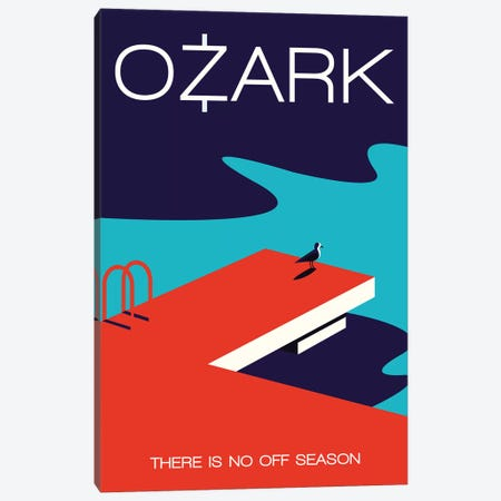 Ozark Minimalist Poster  - Off Season Canvas Print #PTE245} by Popate Canvas Art Print