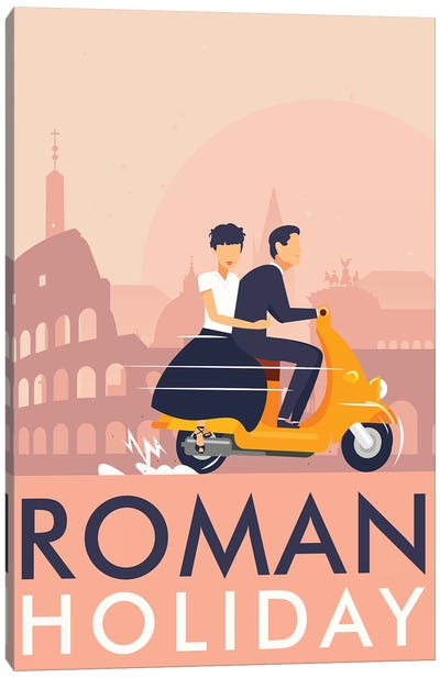 Roman Holiday Minimalist Poster  Canvas Art Print