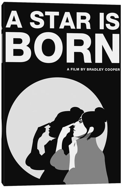 A Star is Born Alternative Poster - Ally Black and White Canvas Art Print