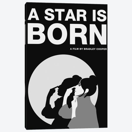 A Star is Born Alternative Poster - Ally Black and White Canvas Print #PTE248} by Popate Canvas Wall Art
