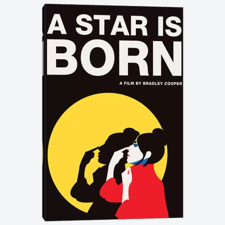 A Star is Born Alternative Poster - Ally Color Canvas Print #PTE249} by Popate Canvas Art
