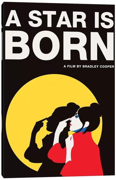 A Star is Born Alternative Poster - Ally Color Canvas Art Print