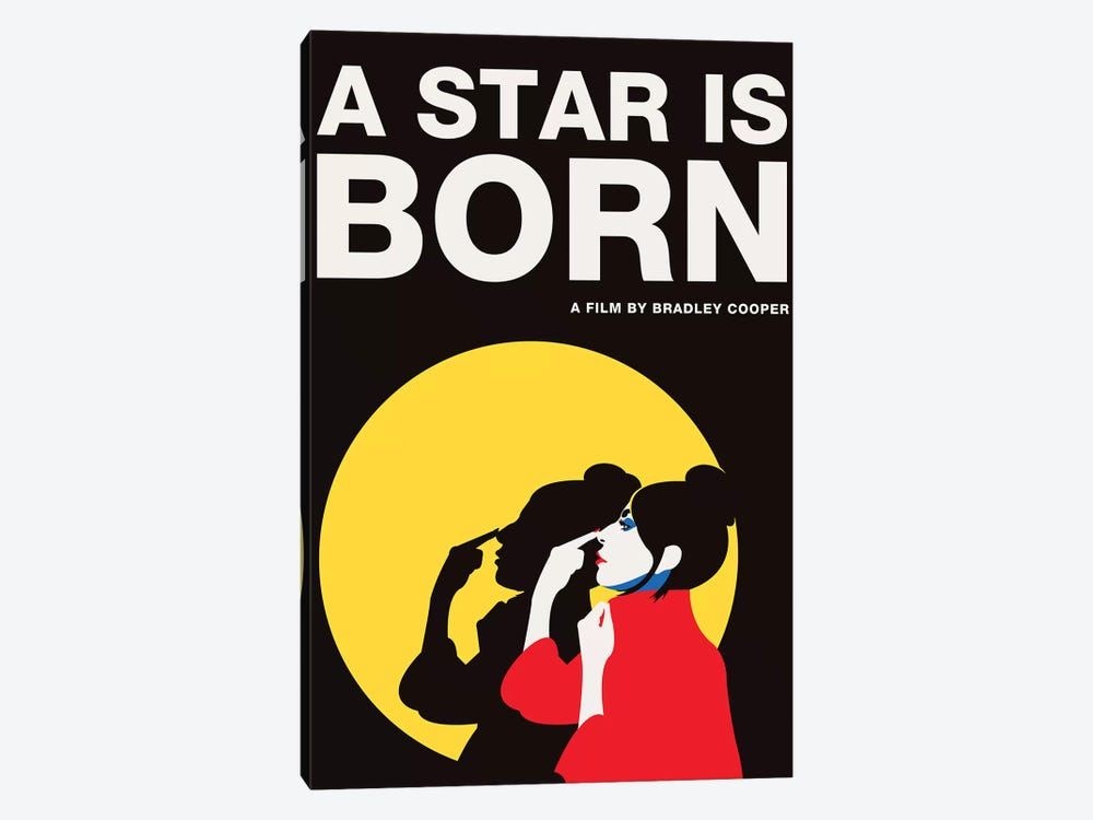 A Star is Born Alternative Poster - Ally Color by Popate 1-piece Canvas Wall Art