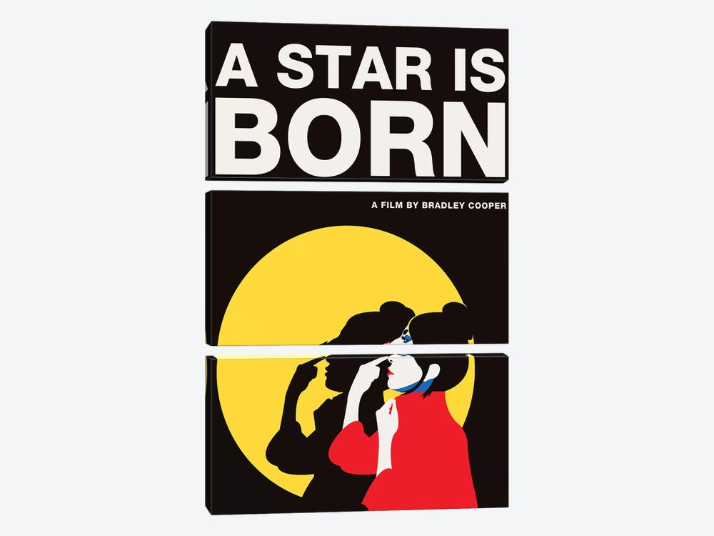 A Star is Born Alternative Poster - Ally Color by Popate 3-piece Canvas Art