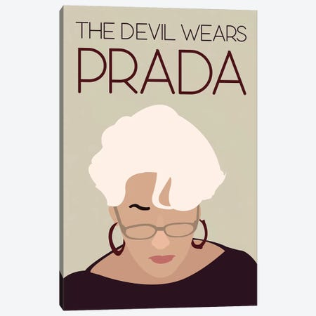 Devil Wears Prada Minimalist Poster Canvas Print #PTE24} by Popate Canvas Print