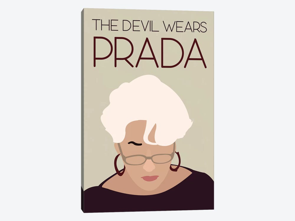 Devil Wears Prada Minimalist Poster by Popate 1-piece Canvas Wall Art