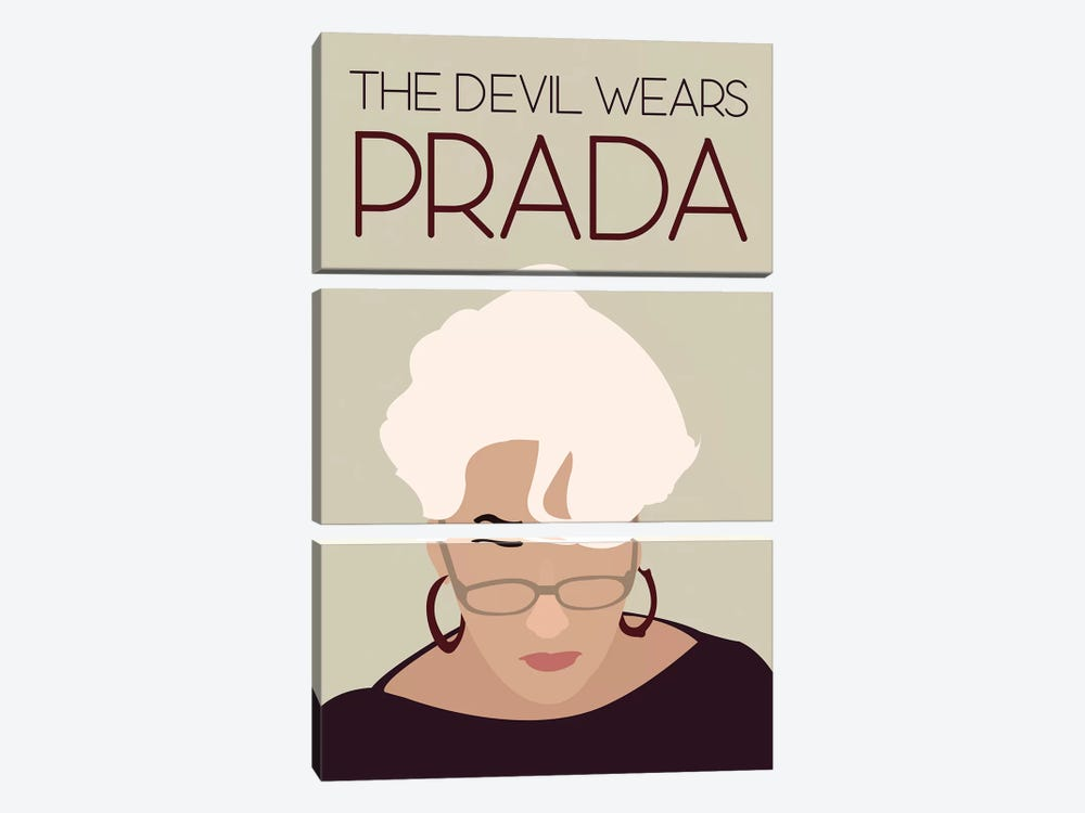 Devil Wears Prada Minimalist Poster by Popate 3-piece Canvas Wall Art