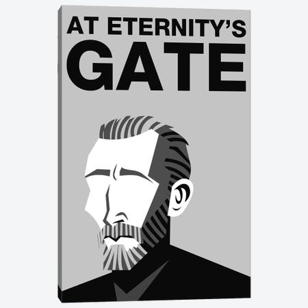 At Eternity's Gate Alternative Poster - Black and White Canvas Print #PTE250} by Popate Art Print