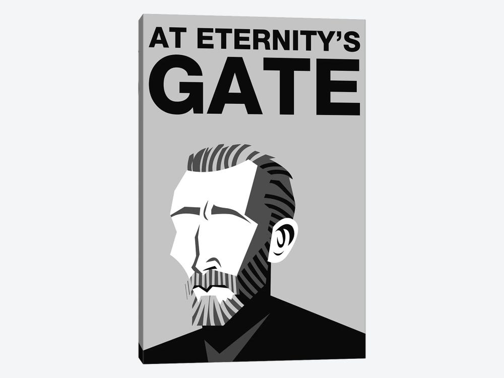 At Eternity's Gate Alternative Poster - Black and White by Popate 1-piece Canvas Artwork
