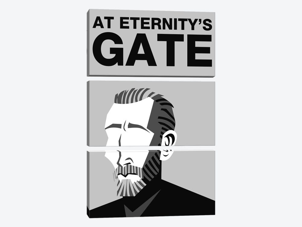 At Eternity's Gate Alternative Poster - Black and White by Popate 3-piece Canvas Art