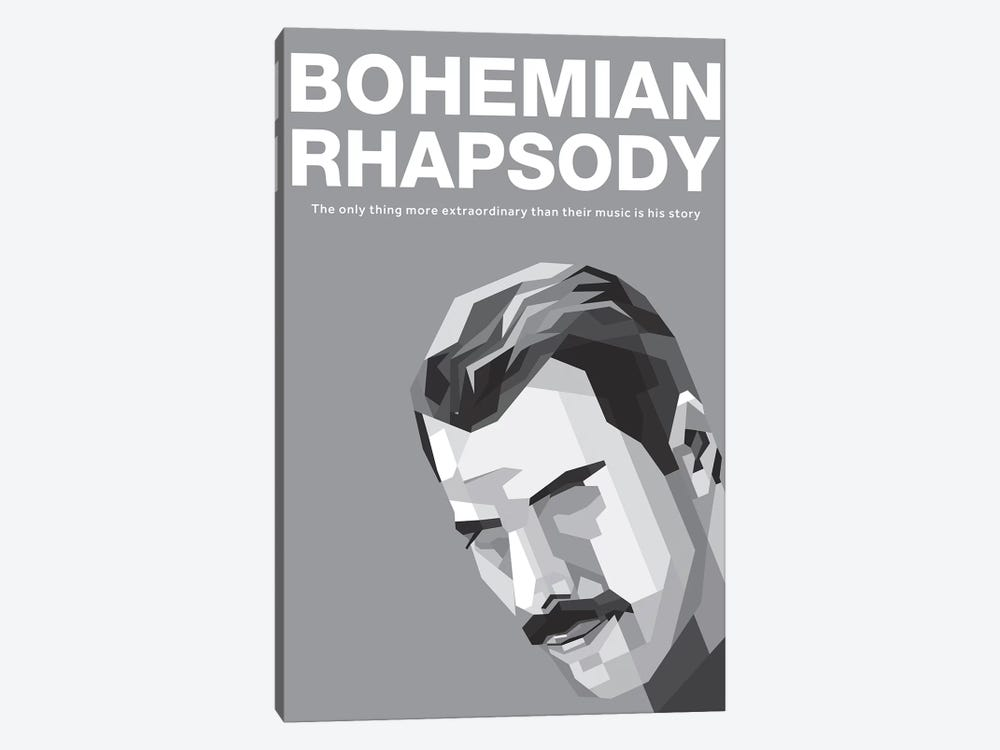 Bohemian Rhapsody Alternative Poster - Freddy by Popate 1-piece Canvas Art