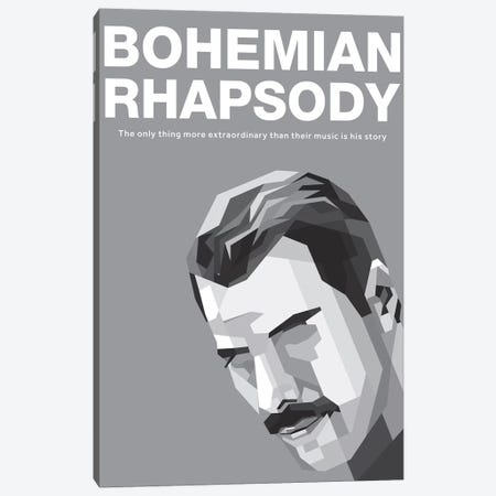 Bohemian Rhapsody Alternative Poster - Freddy 3-Piece Canvas #PTE252} by Popate Canvas Art Print