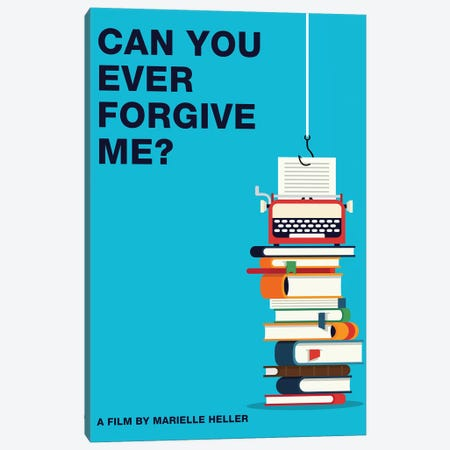 Can You Ever Forgive Me Minimalist Poster Color Canvas Print #PTE254} by Popate Canvas Wall Art