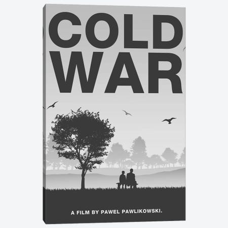 Cold War Minimalist Poster Canvas Print #PTE255} by Popate Canvas Artwork