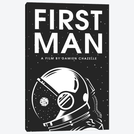 First Man Minimalist Poster Canvas Print #PTE256} by Popate Canvas Artwork