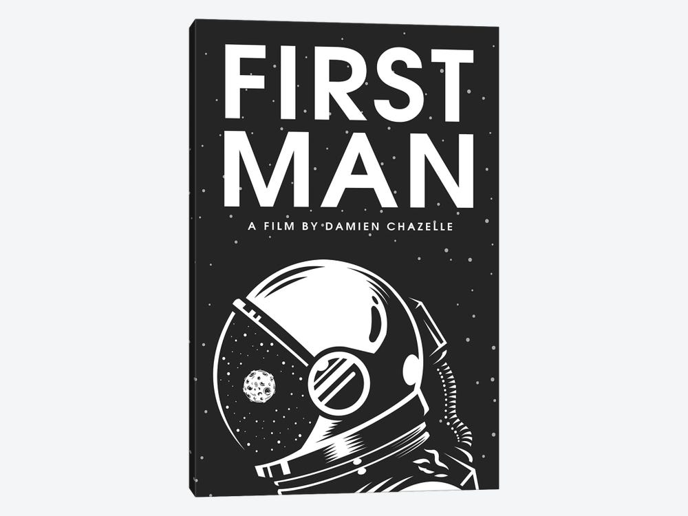 First Man Minimalist Poster by Popate 1-piece Canvas Wall Art
