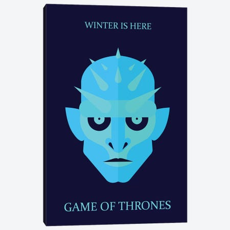 Game of Thrones Minimalist Poster - Ice King Canvas Print #PTE257} by Popate Canvas Art