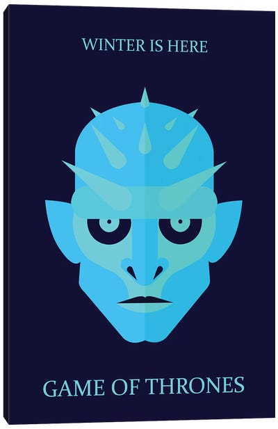 Game of Thrones Minimalist Poster - Ice King Canvas Art Print