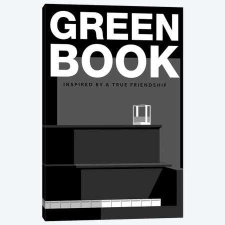 Green Book Alternative Poster Canvas Print #PTE259} by Popate Art Print