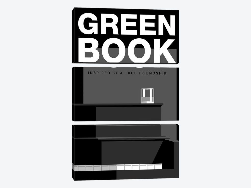 Green Book Alternative Poster by Popate 3-piece Canvas Art Print