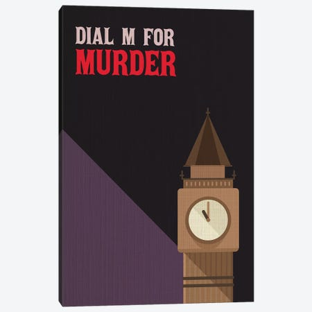 Dial M For Murder Vintage Poster Canvas Print #PTE25} by Popate Canvas Print