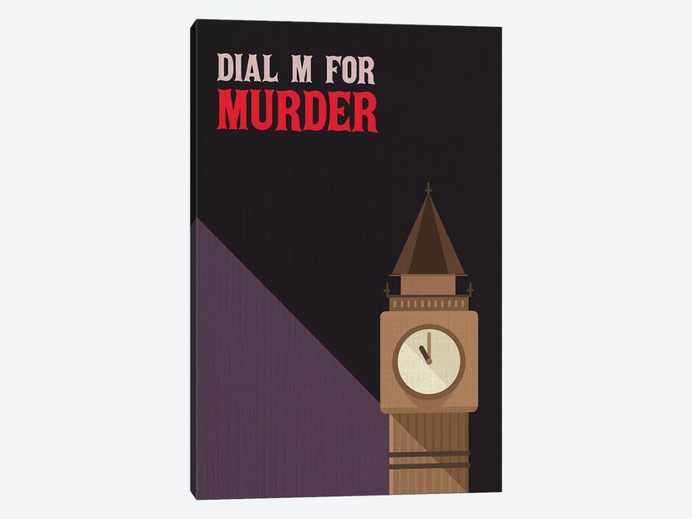 Dial M For Murder Vintage Poster by Popate 1-piece Canvas Art Print